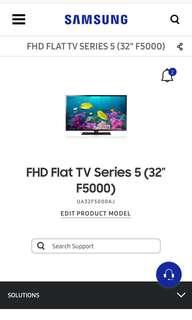 "32"" Samsung TV + Blu-ray Disc player"