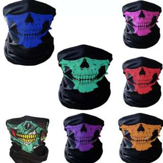 New Fashion Style Ghost Scarf Black Skull Half Face Skeleton Motorcycle Scary Horror Party Halloween Mask Gifts