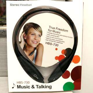 Stereo掛頸式無線藍芽耳機(可高清通話/聽MP3) Stereo Hanging Neck Wireless Bluetooth Headset (Can be High-Definition Call/Listen to MP3)