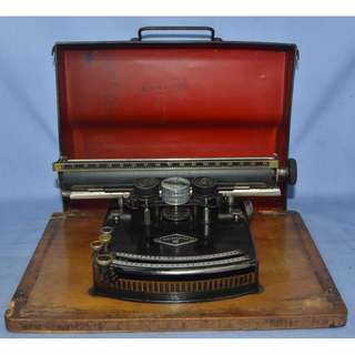 VINTAGE ANTIQUE SCRIPTA III GERMANY MECHANICAL INDEX TYPEWRITER CIRCA 1920S