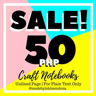 SALE! Personalized Calligraphy Notebooks!