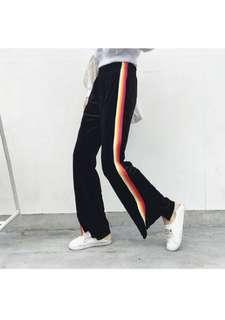 Black Velvet Jogger Pants