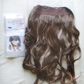 Hairclip MyToday +-60cm | warna light brown curly / keriting