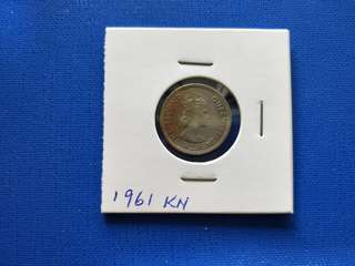 Malaya British Borneo Queen Elizabeth II 10 cent coin 1961KN Tonned