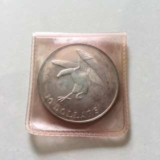 Singapore Eagle 1973 $10 silver proof coin