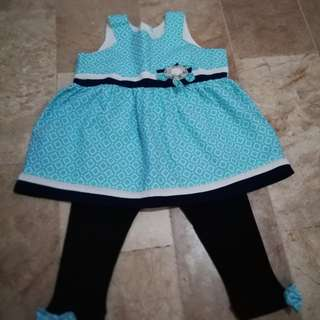 Baby Girl Blouse & Legging Set