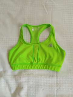 Authentic Adidas Neon Green Sports Bra