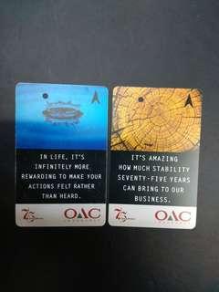 OAC Insurance MRT transit link cards x2