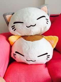 Nemuneko Big soft Good Omen cat Plushy
