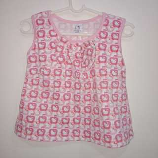 Hush-hush 9-12months, Hello Kitty 3-6months on tag can fit 9-12 months