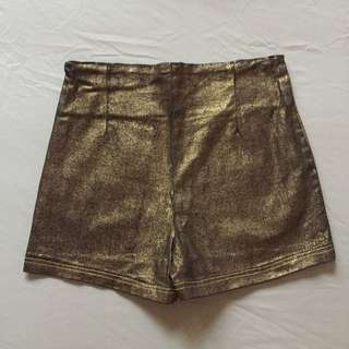 Style Staple Gold High-waist Shorts