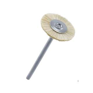 Jewelry polishing tools: T16 Extra-Soft Bristle Brush, White, Mounted, Mounted, Tigarpaws tools