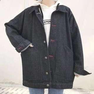 Dark denim jacket (black)
