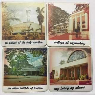 UP Diliman Glass Coasters: Bahay ng Alumni