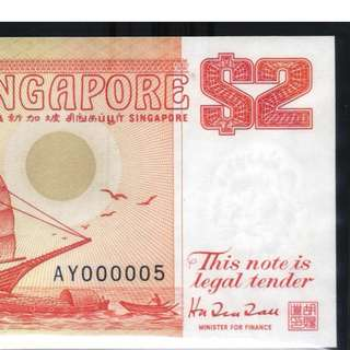 AY000005 $2 red UNC
