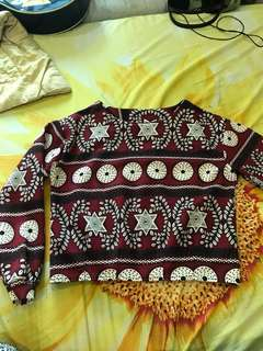Tribal crop top longsleeves