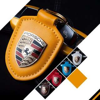 Brand New Porsche Leather Key Chain Many colors