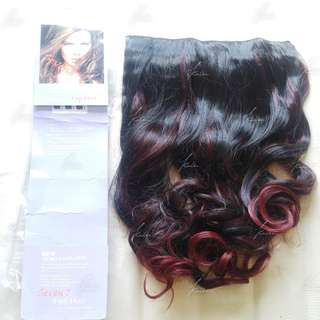 7Revolution big layer hairclip | OMBRE RED | +-60cm