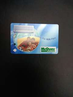 McQuay air conditioning adv MRT card