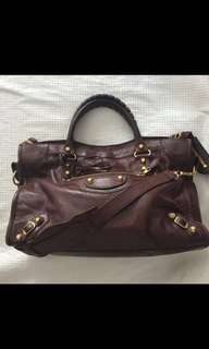 Authentic Balenciaga bag wine red with receipt