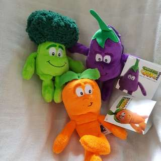 Bless vegetable stuff toys Carrot brocolii brinjal
