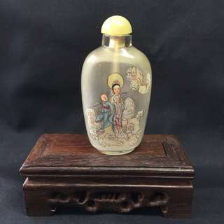 Vintage Hand Painted Snuff Bottle