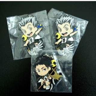 Pricedown:Haikyu!! Character Rubber Strap ( FUKURODANI Ver.) JAPAN Per Strap