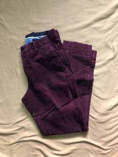 H&M Skinny Maroon Textured Trousers