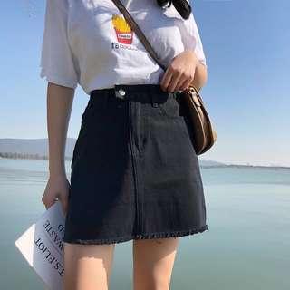 [PO] leaning button aline highwaist skirt