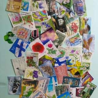 芬蘭郵票65個,包郵