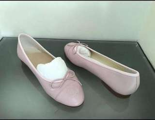 Authentic Lamb Skin Light Pink Chanel Ballet Flats