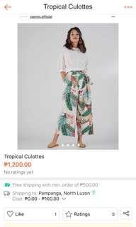 Tropical Culottes
