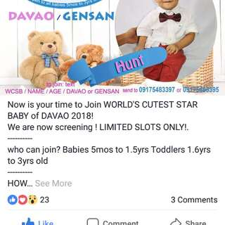 Hello Carousell User Here! Please Support To My little boy .😘 To vote Please Visit Our Page
