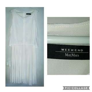 Weekend by MaxMara White Layered Pleated dress