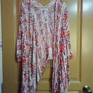 Cotton On Pink Tribal Batik Outerwear