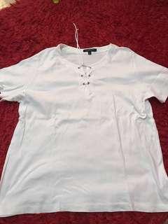 Plus size criss cross shirt