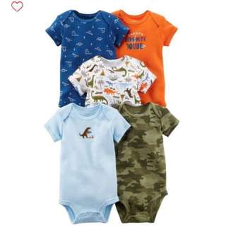 *18M* BN Carter's 5-Pack Short Sleeve Bodysuits For Baby Boy