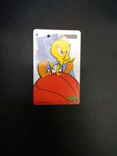Warner Brothers Tweety Bird space jam MRT card