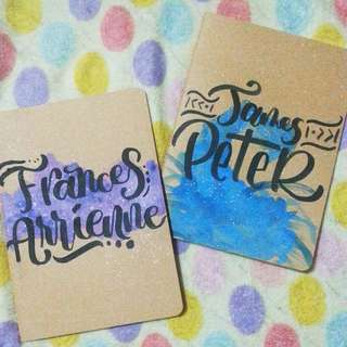 Personalized Calligraphy Kraft (Craft) Notebooks (70 PHP)