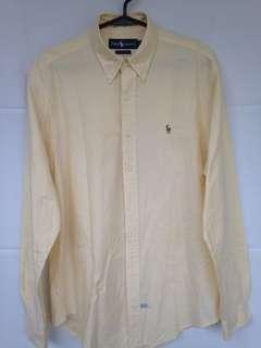 Ralph Lauren Yellow Pinstriped Polo
