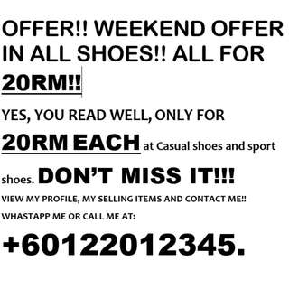 OFFER! WEEKEND OFFER! DONT MISS IT!! 20 RM EACH!!