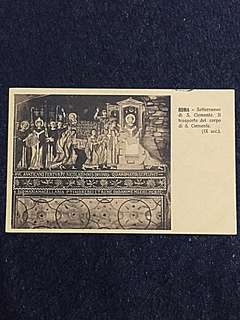 Vintage Postcard 1918 Underground of St Clement Basilica Used w Rome Railway Postmark