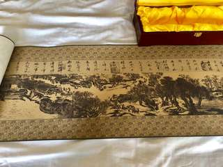 Chinese scroll on silk