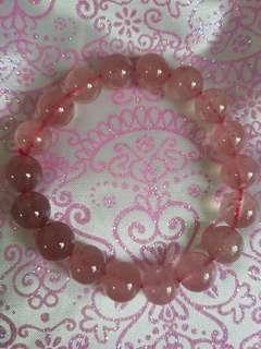 粉红水晶手链