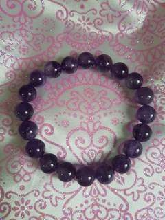 紫水晶手链9mm