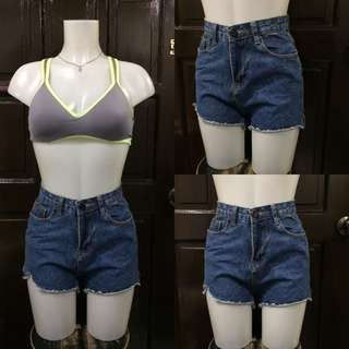 Highwaisted denim short