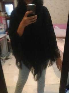 Black ponco knit