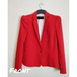 Zara Red Blazer