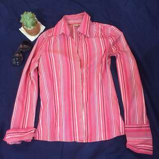 PRELOVED PINK LONGSLEEVE FOR CASUAL/BUSINESS ATTIRE