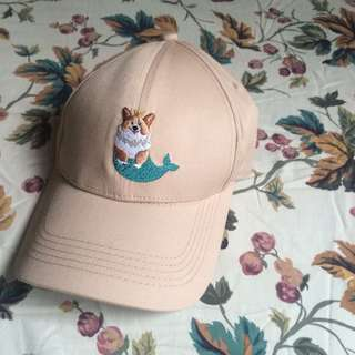 Mermaid-Corgi Cap